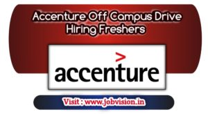 Accenture Off Campus Drive Hiring Freshers