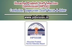 Himachal Pradesh Staff Selection Commission (HPSSC)