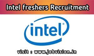 Intel Freshers Recruitment