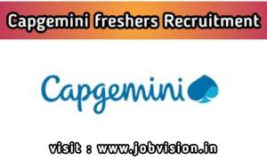 Capgemini Freshers Recruitment
