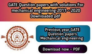GATE Question Paper for Mechanical with Solution