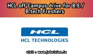 HCL off campus drive