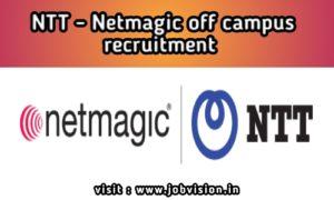 NTT-Netmagic off campus Recruitment 2020