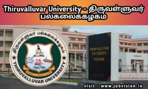 Thiruvalluvar University Recruitment