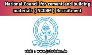 NCCBM Recruitment
