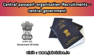 Passport Office Recruitment