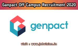 Genpact off campus Recruitment