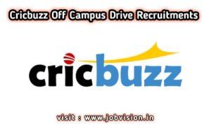 Cricbuzz Off Campus Drive