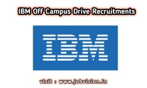 IBM off campus Recruitment