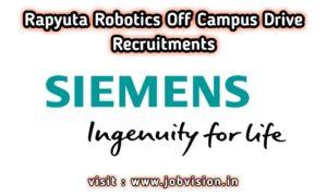 Siemens Off Campus Recruitment