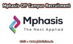 Mphasis Recruitment 2020