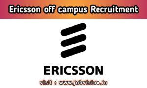 Ericsson Recruitment 2020