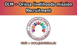 OLM - Odisha Livelihoods Mission