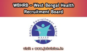 WBHRB West Bengal Health Recruitment Board
