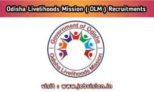 Odisha Livelihoods Mission ( OLM ) Recruitments