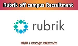 Rubrik Off Campus Recruitment