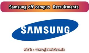Samsung off campus recruitment