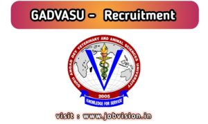 GADVASU Recruitment