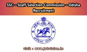 SSC - Odisha Staff Selection Commission