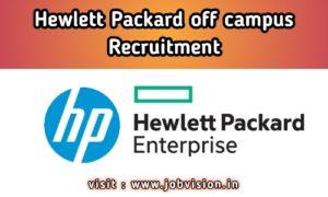 Hewlett Packard off campus Recruitment