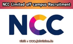 NCC Ltd Recruitment