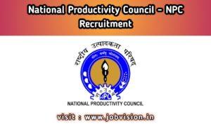 NPC Chennai Recruitment