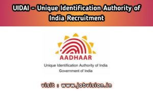 UIDAI Recruitment