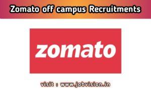 Zomato Off Campus Drive
