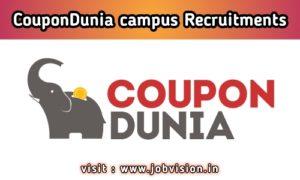 CouponDunia Off Campus Drive