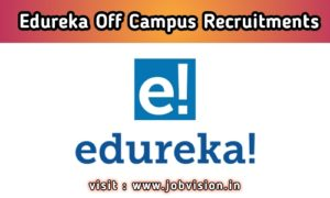 Edureka Off Campus Drive