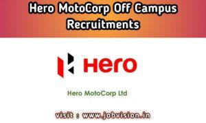 Hero MotoCorp Recruitment