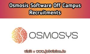 Osmosys Software Off Campus Drive