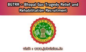 BGTRR Bhopal Gas Tragedy Relief and Rehabilitation
