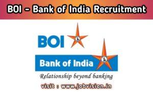 BOI - Bank of India Recruitment