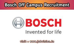 Robert Bosch Recruitment 2020 Hiring As Software Developer