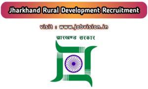 Jharkhand Rural Development Recruitment