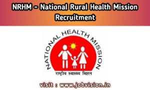 NRHM Arunachal Pradesh Recruitment
