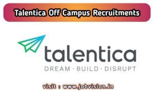 Talentica Software Off Campus Drive