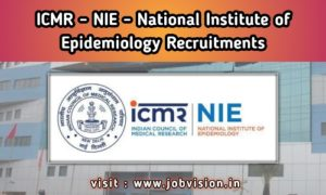 NIE - National Institute of Epidemiology