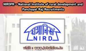NIRDPR - National Institute of Rural Development and Panchayati Raj