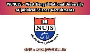 WBNUJS Recruitment