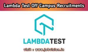 LambdaTest Off Campus Drive