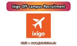 Ixigo Off Campus Drive