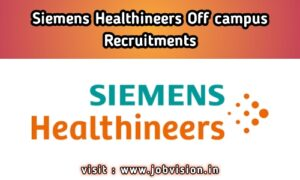 Siemens Healthineers Recruitment