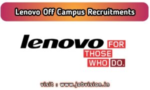 Lenovo Recruitment