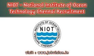 NIOT - National Institute of Ocean Technology Chennai