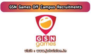 GSN Games Recruitment
