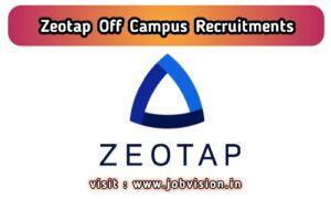 Zeotap Off Campus Drive