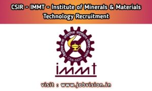 CSIR IMMT Recruitment