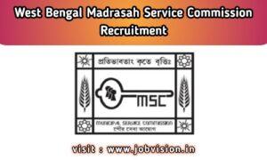 WBMSC Recruitment